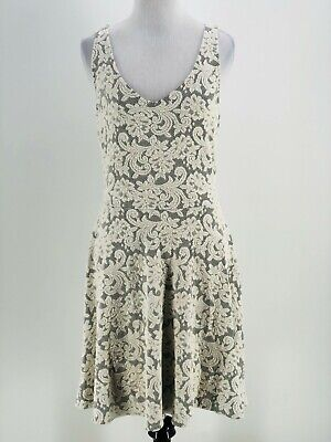 Abercrombie & Fitch Juniors Ivory Scoop Neck Wrap Back A-Line Dress Size Large