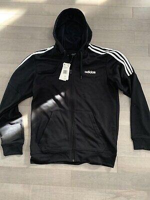 Brand New Adidas Men's French Terry Full Zip Hoodie Black Size Medium M sweater