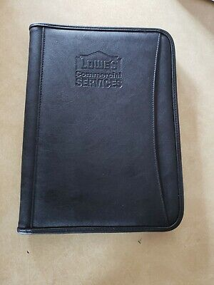Leeds Zippered Binder Portfolio Padfolio Notebook Wlowes Logo
