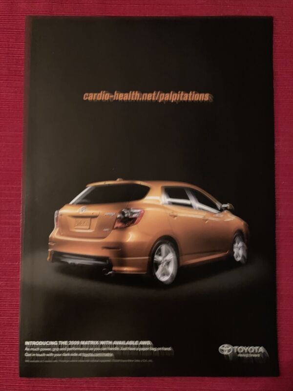 Toyota Matrix Car 2009 Ad/Poster Promo Art Ad