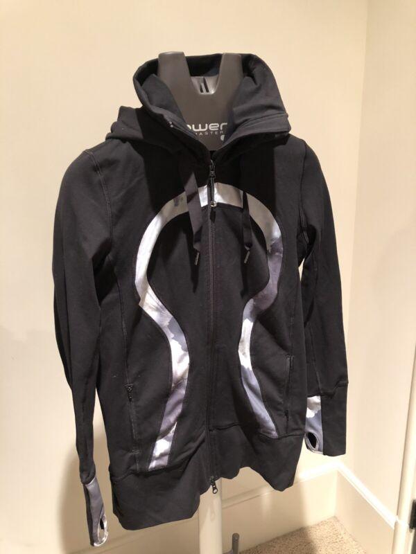Lululemon Stride Jacket Black/White/Coal Size 8