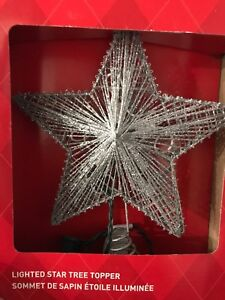 Christmas Tree Star Topper with lights