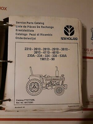 New Holland Tractor 2310 2610 2810 2910 3610 3910 4110 Service Parts Catalog