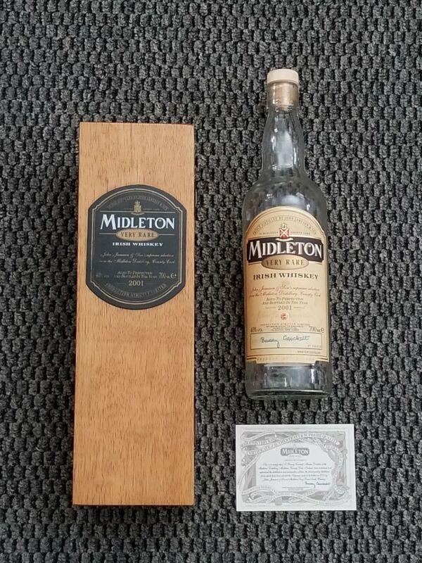 2001 MIDDLETON VERY RARE IRISH WHISKEY BOTTLE AND BOTTLE ( EMPTY)