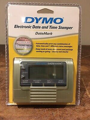 New Sealed Dymo Datemark Electronic Date And Time Stamper 47002 Stamp Dater