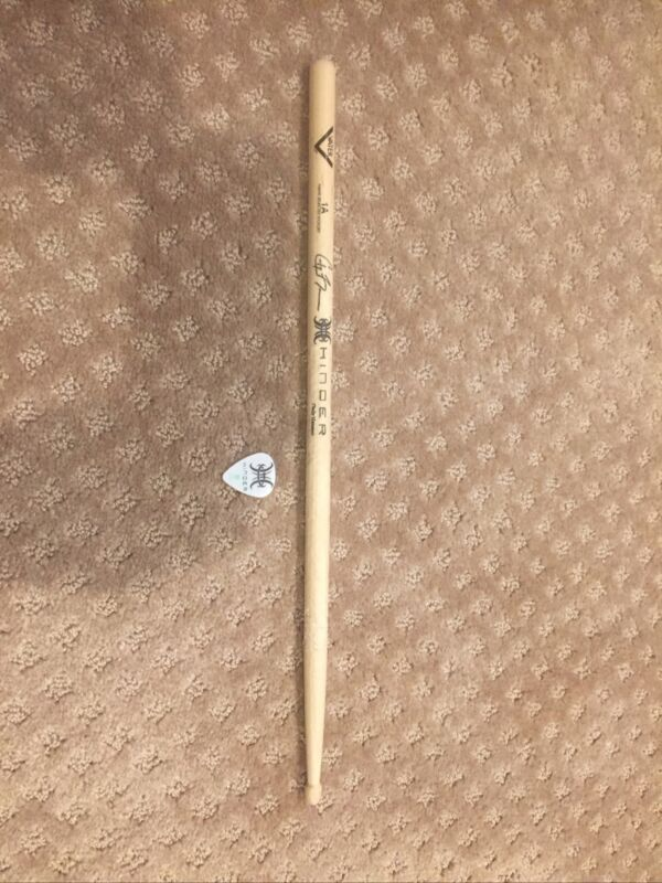 Hinder Band Rock Tour Drumstick Cody Hanson And Guitar Pick