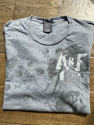Abercrombie And Fitch Large Grey T Shirt