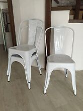 Three reproduction Tolix chairs in white Narraweena Manly Area Preview