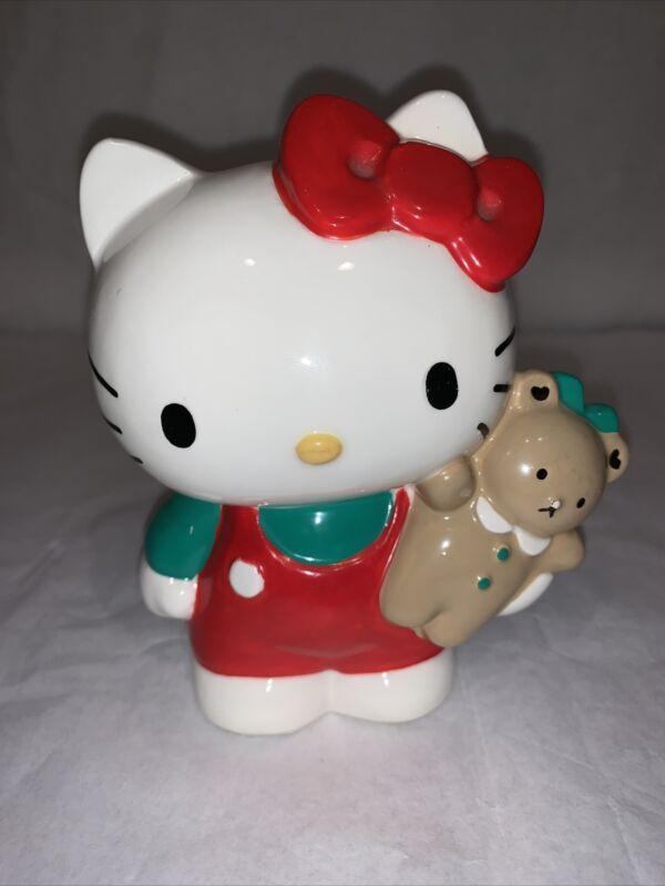 Vintage Sanrio Ceramic Hello Kitty Chum Bear Coin Bank