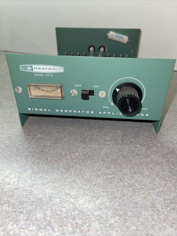 Heathkit EF-3 Signal Generator NEAR MINT vintage 1969.