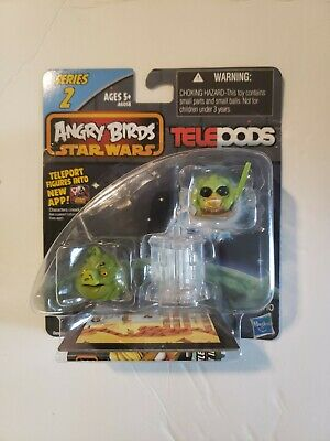 ANGRY BIRDS STAR WARS Kit Fisto Bird & Jabba the Hutt Pig Series 2 TELEPODS