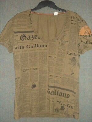 John Galliano  V neck T shirt  sz M