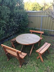 Great wooden outdoor setting Seacliff Park Marion Area Preview
