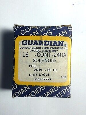 Guardian Electric 16-c-240a Linear Solenoid Continuouspull New Surplus In Box