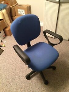 Blue office desk chair
