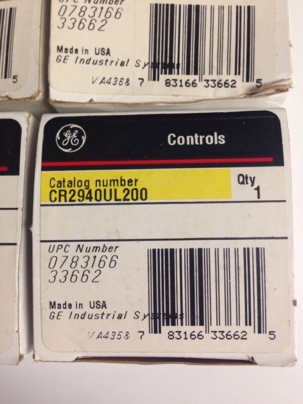 New General Electric CR294OUL200 NEW In Box GE controls locking attachment