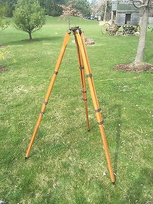 Dietzgen Tripod Wood Brass Fittings Large Heavy Duty For Plane Table Surveyors