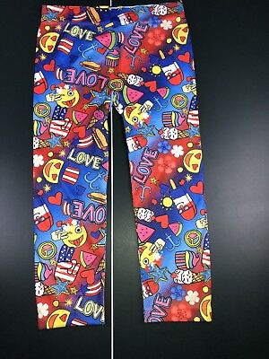NoBo No Boundaries Capri Emoji Leggings Women's Size Large 11-13