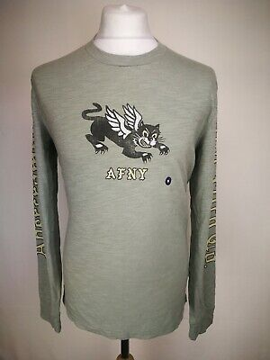 Abercrombie And Fitch Mens Long Sleeve T-shirt, Size M, Green, RRP £32,...