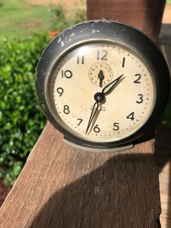 Vintage Westclox brown Baby Ben Style 6 Alarm Clock - Working