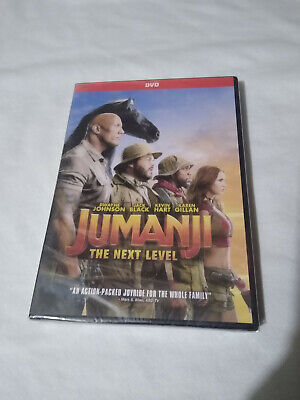 Jumanji 2 The Next Level (DVD, 2019) The Rock Kevin Hart Movie Sealed + New