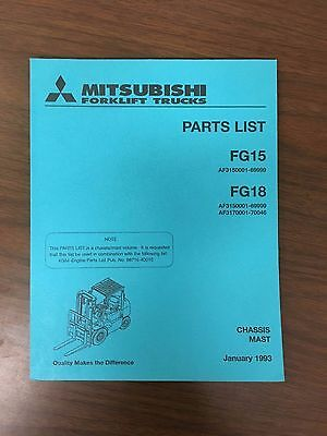 Mitsubshi Forklift Parts Manual Fg15 And Fg18
