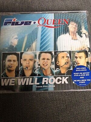 FIVE AND QUEEN - WE WILL ROCK YOU CD SINGLE