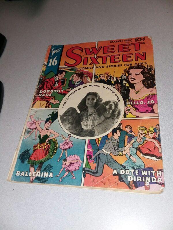 SWEET SIXTEEN #4 Golden Age 1947 Elizabeth Taylor cover photo! Parents magazine