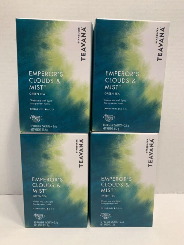 STARBUCKS TEAVANA Emperors Clouds and Mist Green Tea Sachet 48ct Best By 12/2019