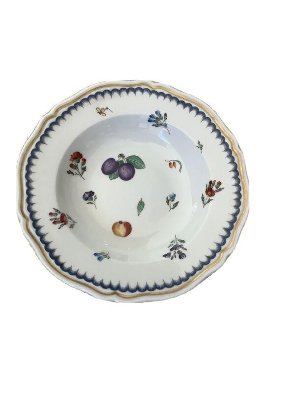 Richard Ginori Italian Fruits Pattern Rim Soup Bowl