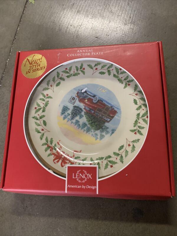 Lenox Holiday Annual Christmas Plate 2017-Vintage Wagon - Boxed 11218116