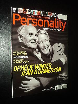 PERSONALITY 01 (1/98) OPHELIE WINTER KYLIE MINOGUE JANE BIRKIN ELTON JOHN M MAY