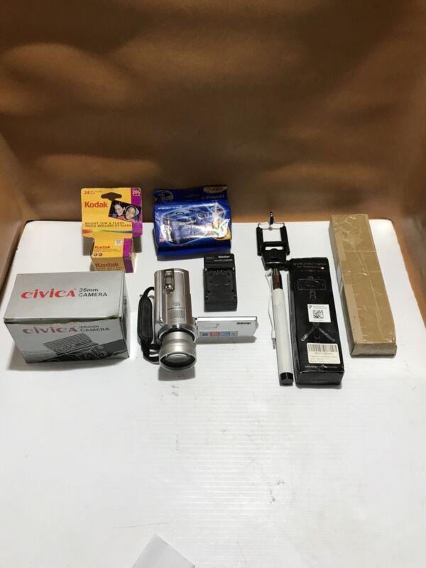 Small Photo & Video Mixed Lot Civica, Sony Handycam, Polaroid,Kodak, New & Used