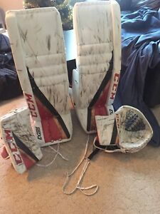 One month used goalie gear