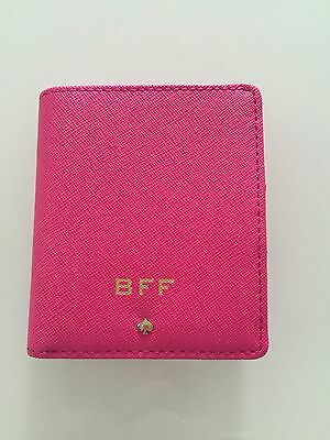 AUTHENTIC Kate Spade Leather Wedding Belles Small Stacy Wallet BFF Pink NWT - Pink Wedding Bells