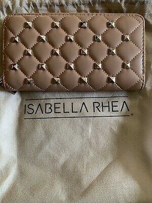 Isabella Rhea Brand New Nude Purse With Studs Comes With Dust Bag