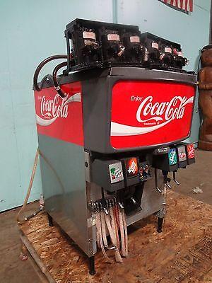 Commercial Coca Cola 6 Flavors Soda Dispenser Wice Bin Dispenser 6 Pumps