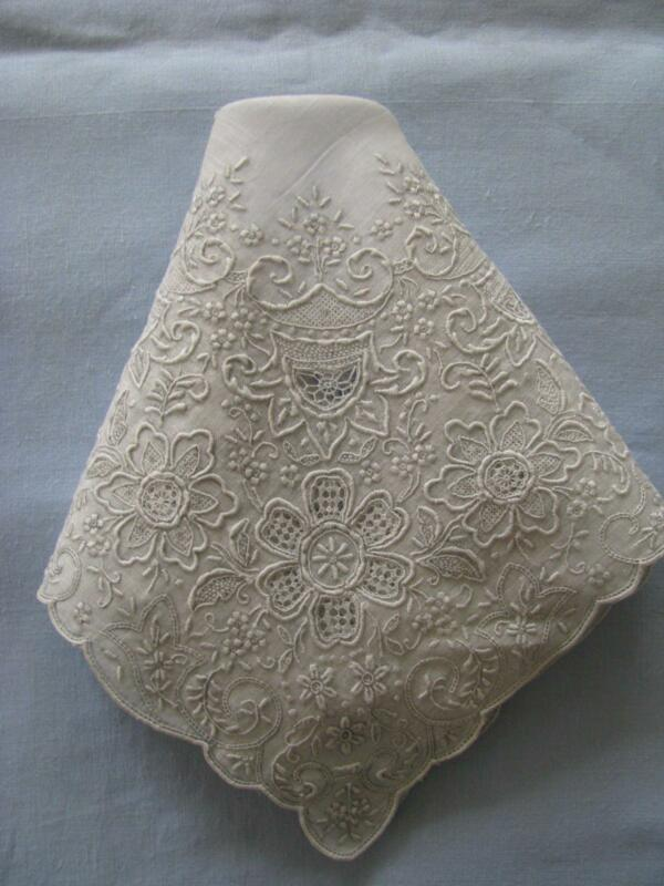 vintage wedding hankies