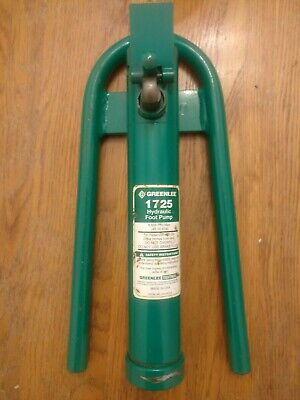 Greenlee Hydraulic Foot Pump 1725 6500psi Pump Only - Does Not Include Pedal