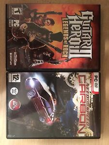 Guitar hero et need for speed carbon pour pc