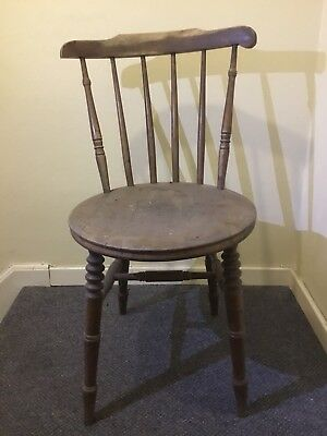 COUNTRY ANTIQUE KITCHEN CHAIRS SWEDISH PINE CIRCA 1900