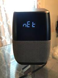 Insignia Voice Smart Bluetooth Speaker, Alarm Clock with Google Assistant