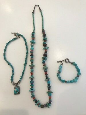 Vintage Turquoise Jewelry - Set of 3 Pieces