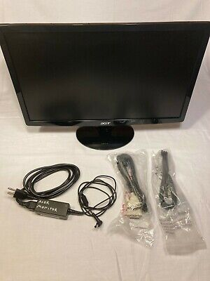 "Acer S202HL 20"" widescreen LED monitor with all cables"