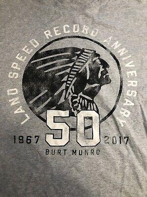 Vintage Indian Motorcycle 50 Year Land Speed Record Burt Munro XL Shirt Men's