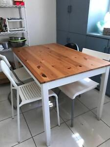 white with wood refine dinner table with 4 chairs dining tables rh gumtree com au