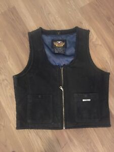 Harley davison leather motorcycle vest women m