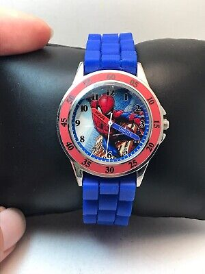 Spiderman Boy's Analog Analog Quartz Watch with Silicone Strap SPD9048-H85