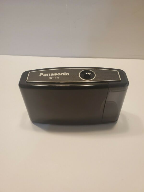 Vintage Panasonic KP-4A Battery Operated Pencil Sharpener Black Tested Works