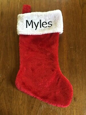 Personalized Plush Christmas Stockings Classic Red/White Monogrammed Your Name - Monogrammed Stocking